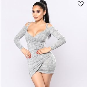 NWT Get Together Party Dress - Heather Grey
